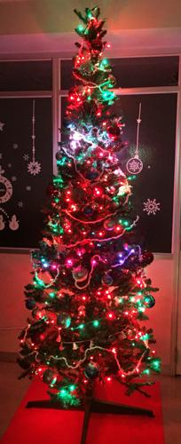 LEDクリスマスツリー赤緑
