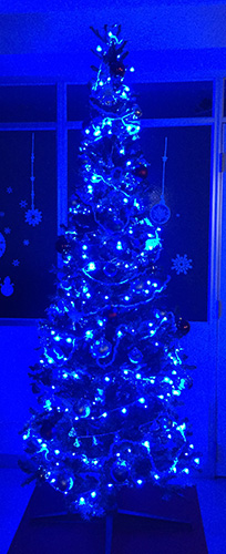 LEDクリスマスツリー青