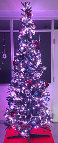 LEDクリスマスツリーピンク